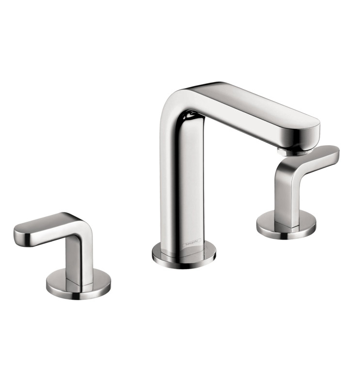 hansgrohe 31067001 metris s widespread faucet with lever handles with finish chrome. Black Bedroom Furniture Sets. Home Design Ideas