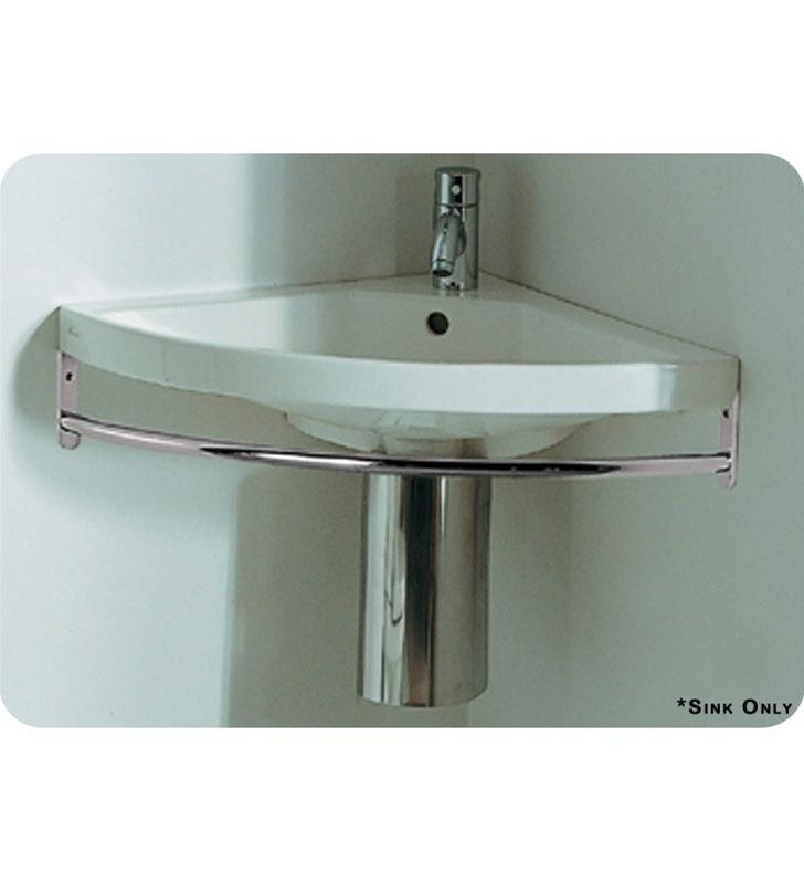 Wall Mounted Corner Basin : lu010 Whitehaus Corner Wall Mount Basin with Chrome Overflow - China ...