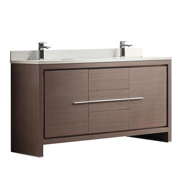 Fresca FCB8119GO CWH U Allier 60 Gray Oak Modern Double Sink
