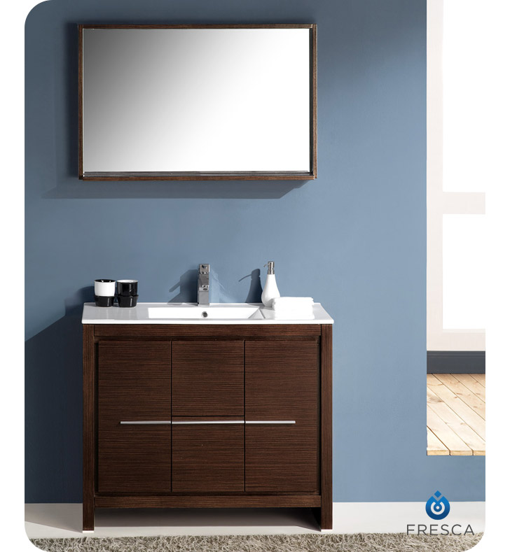 fcb8140wg i allier 40 wenge brown modern bathroom cabinet with sink