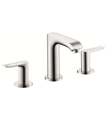 "Hansgrohe 31083001 Metris 100 6"" Double Handle Widespread/Deck Mounted Bathroom Faucet with Pop-Up Assembly With Finish: Chrome"