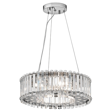 Kichler 42194CH Crystal Skye Collection Chandelier/Pendant 6 Light Halogen in Chrome