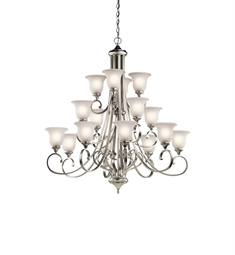 Kichler Monroe Collection 43192 Chandelier 16 Light in Brushed Nickel