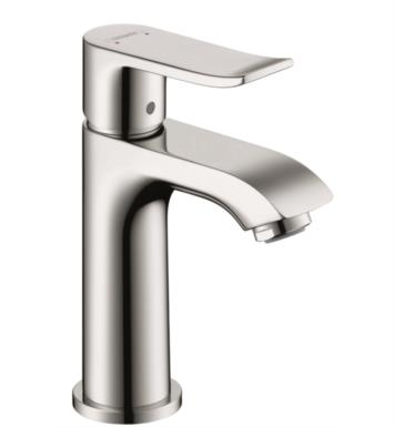 "Hansgrohe 31088821 Metris 100 4 7/8"" Single Handle Deck Mounted Bathroom Faucet with Pop-Up Assembly With Finish: Brushed Nickel"
