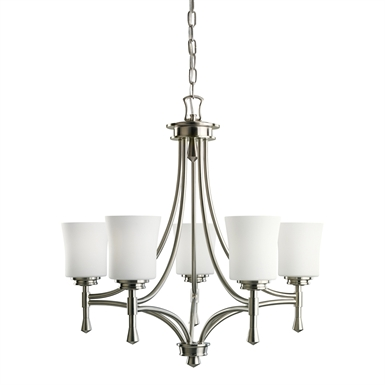 Kichler 2120NI Wharton Collection Chandelier 5 Light in Brushed Nickel