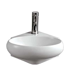 Whitehaus Oval Wall Mount Basin with Center Drain - Isabella Series