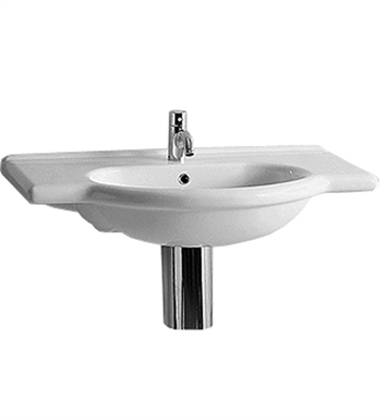 Whitehaus TOP63 Sanremo Vanity Basin with Chrome Overflow and Integrated Oval Basin - China Series