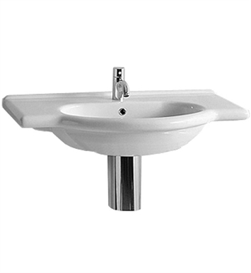 Whitehaus TOP62 Nizza Large Vanity Basin with Chrome Overflow and Integrated Oval Basin - China Series