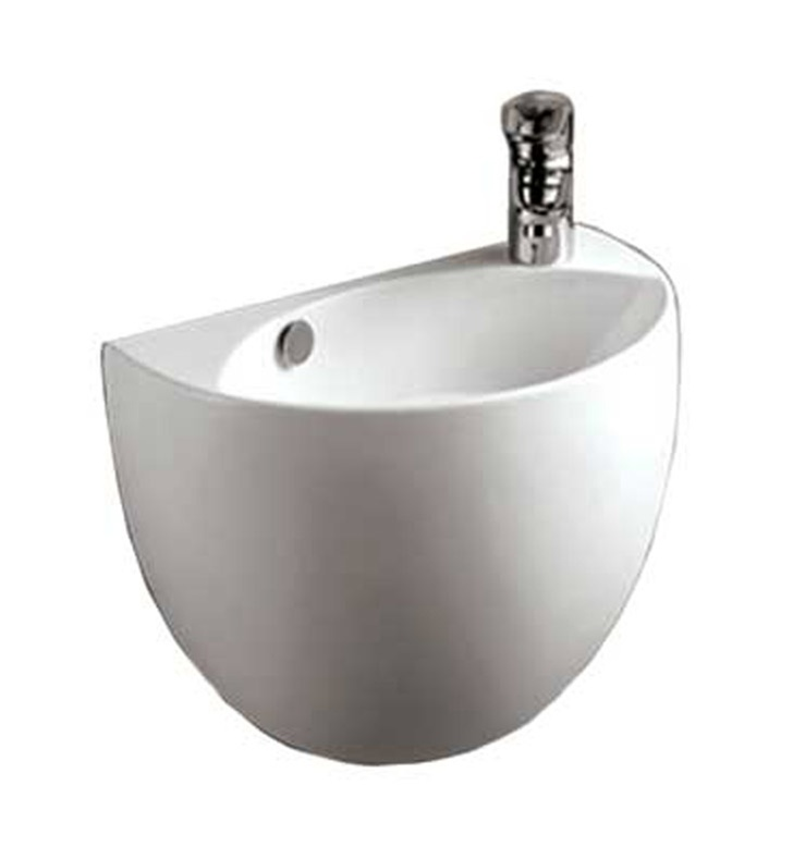 Whitehaus Whkn1139a Half Oval Shaped Wall Mount Basin With