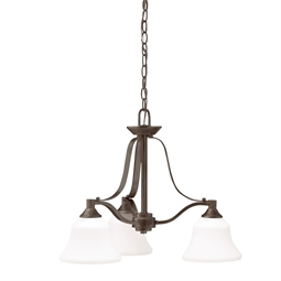 Kichler 1781OZ Chandelier 3 Light in Olde Bronze