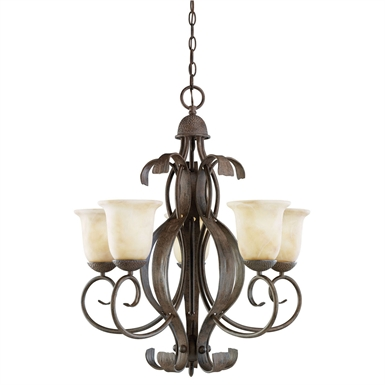 Kichler 2108OI High Country Collection Chandelier 5 Light in Old Iron