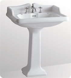 Whitehaus Large Traditional Pedestal with Overflow and Integral Rectangular Bowl - China Series