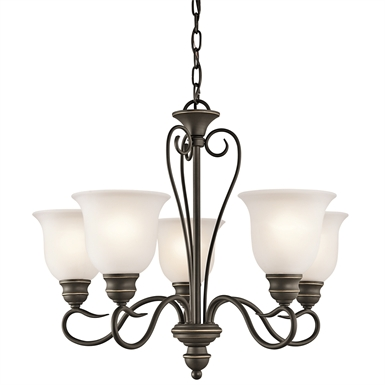 Kichler 42906OZ Tanglewood Collection Chandelier 5 Light in Olde Bronze