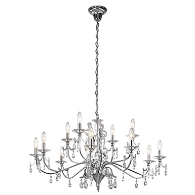 Kichler 42340CH Rizzo Collection Chandelier 12 Light in Chrome