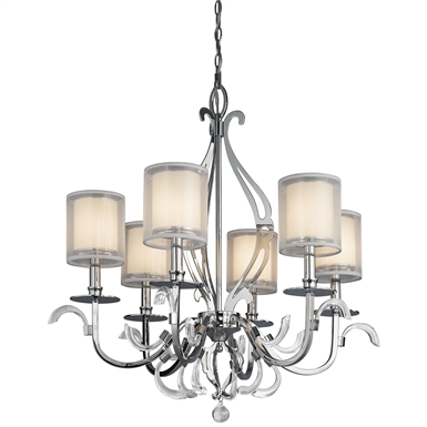 Kichler 42302CH Chandelier 6 Light in Chrome