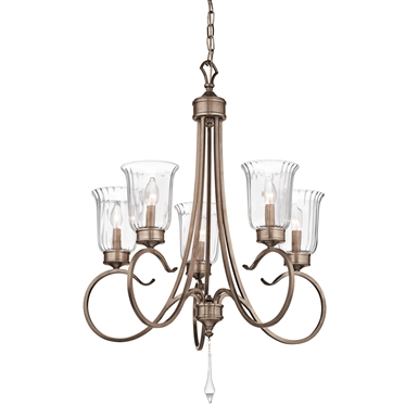 Kichler 43238BRSG Malina Collection Chandelier 5 Light
