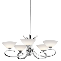 Kichler Brooklands Collection Chandelier 5 Light Halogen in Chrome