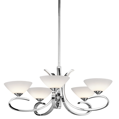 Kichler 43021CH Brooklands Collection Chandelier 5 Light Halogen in Chrome