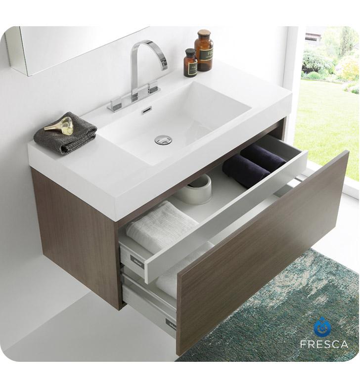 Fresca Fvn8010go Mezzo Modern Bathroom Vanity With