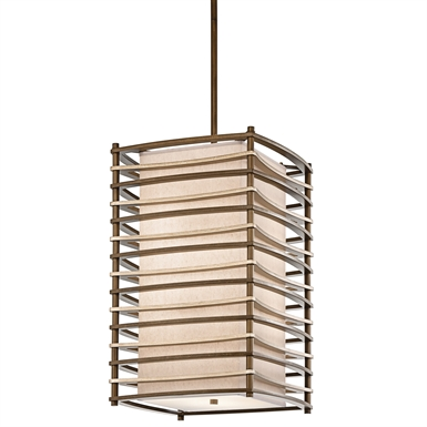 Kichler 42073CMZ Moxie Collection Chandelier Foyer 4 Light in Cambridge Bronze