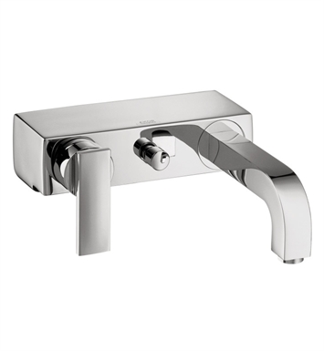 "Hansgrohe 39400821 Axor Citterio 2 1/8"" Single Handle Wall Mount Tub Filler with Handshower With Finish: Brushed Nickel"