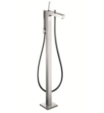"Hansgrohe 39451821 Axor Citterio 43 3/8"" Single Handle Free Standing Tub Filler with Handshower With Finish: Brushed Nickel"