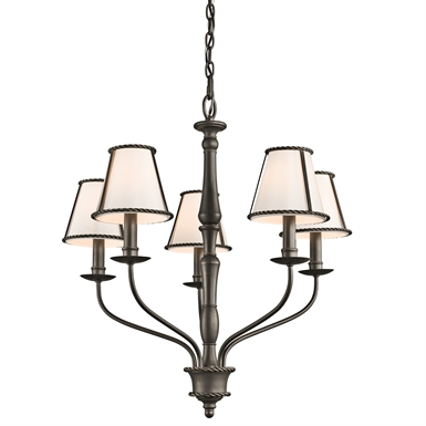 Kichler 43339OZ Donington Collection Chandelier 5 Light in Olde Bronze