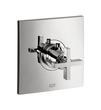 Hansgrohe 39716821 Axor Citterio Thermostatic Trim with Cross Handle With Finish: Brushed Nickel