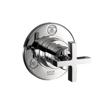 Hansgrohe 39927821 Axor Citterio Trio Quattro Diverter Trim with Cross Handle With Finish: Brushed Nickel