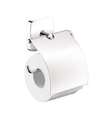 Hansgrohe 41508000 PuraVida Toilet Paper Holder with Cover in Chrome