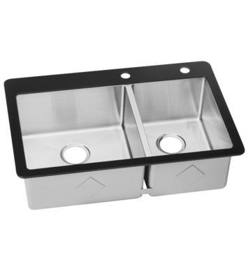 Elkay ectgro33229r2r crosstown 33 1 8 double bowl drop in - Kitchen sink rim ...