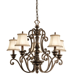 Kichler Chandelier 5 Light in Terrene Bronze
