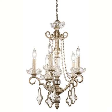 Kichler 42115SRM Gracie Collection Mini Chandelier 5 Light in Sunrise Mist