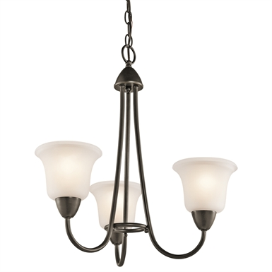 Kichler 42883OZ Nicholson Collection Chandelier 3 Light in Olde Bronze