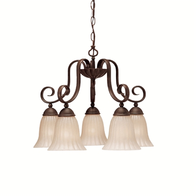 Kichler 1826TZ Willowmore Collection Chandelier 5 Light in Tannery Bronze