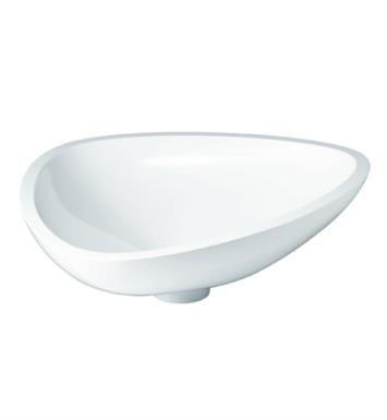 "Hansgrohe 42305000 Axor Massaud 22 1/2"" Countertop Small Vessel Bathroom Sink in White"