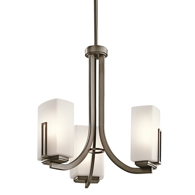 Kichler 42425SWZ Mini Chandelier 3 Light in Shadow Bronze