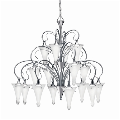 Kichler 2386NI Raindrops Collection Chandelier 16 Light in Brushed Nickel