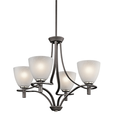Kichler 43026AVI Neillo Collection Chandelier 4 Light in Anvil Iron