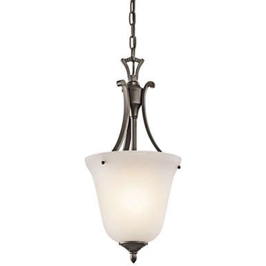 Kichler 43403OZ Wellington Square Collection Chandelier Foyer 1 Light in Olde Bronze