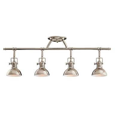 Kichler 7704PN Fixed Rail 4 Light Halogen in Polished Nickel