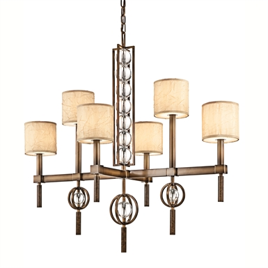 Kichler 42105CMZ Celestial Collection Chandelier 6 Light in Cambridge Bronze