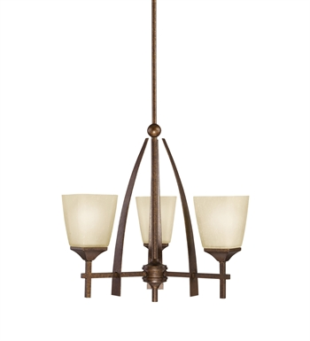 Kichler 2412MBZ Souldern Collection Chandelier 3 Light in Marbled Bronze