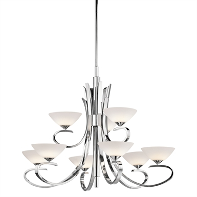 Kichler 43023CH Brooklands Collection Chandelier 9 Light in Chrome
