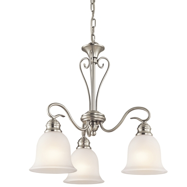 Kichler 42905NI Tanglewood Collection Chandelier 3 Light With Finish: Brushed Nickel