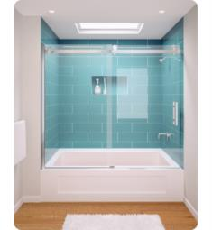 "GlassCrafters AT-38 Acero Series Frameless Sliding Tub Doors with Stainless Steel Hardware and 3/8"" Tempered Glass"