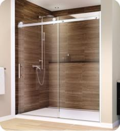 "GlassCrafters AS-38 Acero Series Frameless Sliding Shower Doors with Stainless Steel Hardware and 3/8"" Tempered Glass"