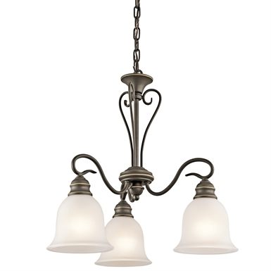 Kichler 42905OZ Tanglewood Collection Chandelier 3 Light in Olde Bronze