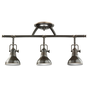 Kichler 7050PN Fixed Rail 3 Light Halogen With Finish: Polished Nickel