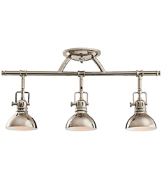 Kichler Fixed Rail 3 Light Halogen in Polished Nickel